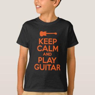Keep Calm And Play Guitar Cool Design T-Shirt