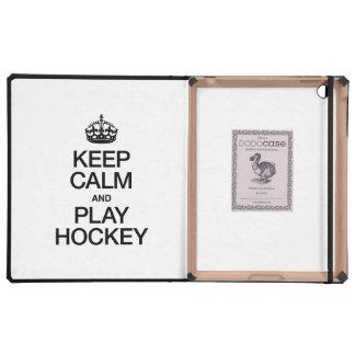 KEEP CALM AND PLAY HOCKEY iPad CASES