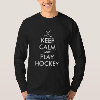 Keep calm and play ice hockey sport shirt