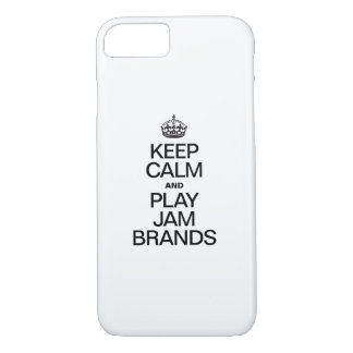 KEEP CALM AND PLAY JAM BRANDS iPhone 7 CASE