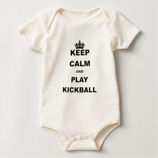 KEEP CALM AND PLAY KICKBALL.png Baby Bodysuit