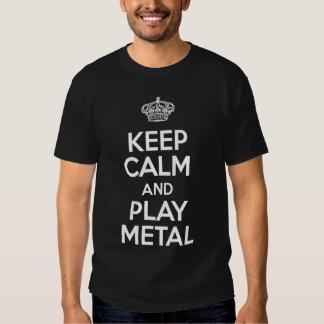 Keep Calm and Play Metal Tshirts