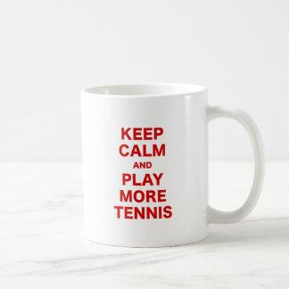 Keep Calm and Play More Tennis Mugs