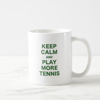 Keep Calm and Play More Tennis Classic White Coffee Mug
