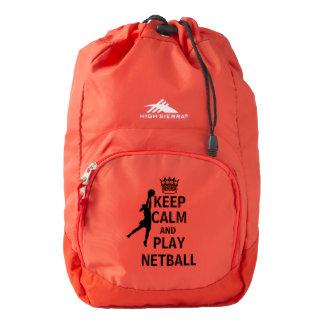 Keep Calm and Play Netball Bag Backpack