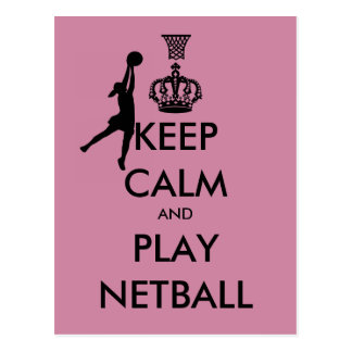 Keep Calm and Play Netball Postcard