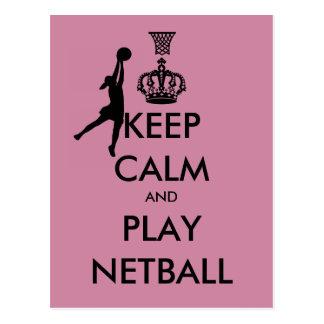 Keep Calm and Play Netball Postcard