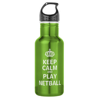 Keep Calm and Play Netball Quote 532 Ml Water Bottle