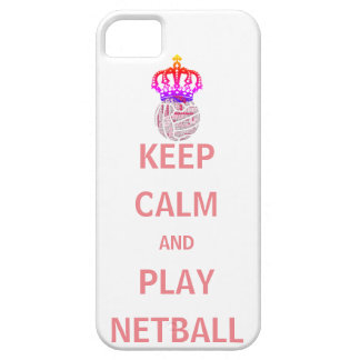 Keep Calm and Play Netball Quote Case For The iPhone 5