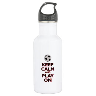 keep calm and play on 532 ml water bottle