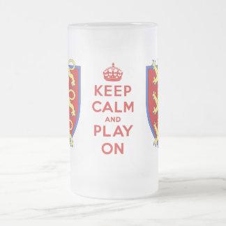 Keep Calm and Play On Beer Stein Coffee Mug