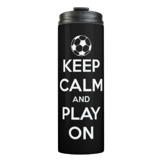 Keep Calm and Play On Black Personalized Thermal Tumbler