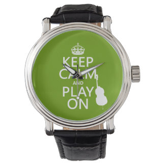 Keep Calm and Play On (cello) (any color) Watch