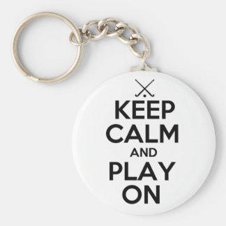 Keep Calm and Play On - Field Hockey Key Chains