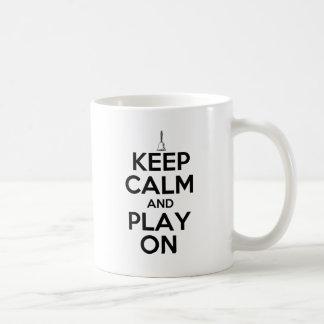 Keep Calm and Play On Handbells Coffee Mug