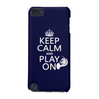 Keep Calm and Play On horn any background color iPod Touch (5th Generation) Covers