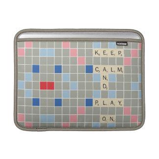 Keep Calm And Play On MacBook Sleeve