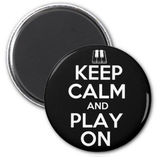 Keep Calm and Play On Piano 6 Cm Round Magnet