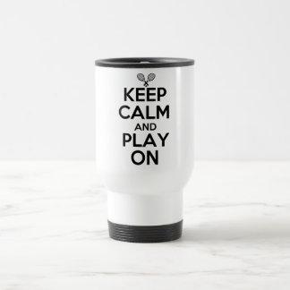 Keep Calm and Play On Tennis Travel Mug