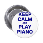 Keep Calm and Play Piano Buttons