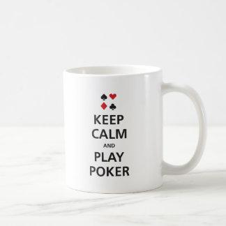 Keep Calm and Play Poker Coffee Mug