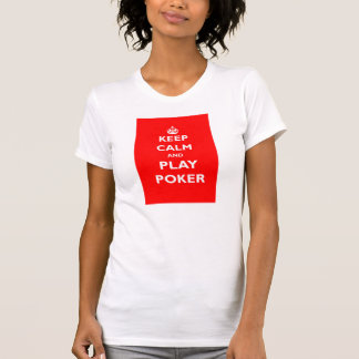 keep calm and play poker symbol british casino shirt