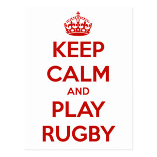Keep Calm And Play Rugby Postcard