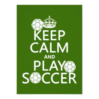 Keep Calm and Play Soccer (any color) 14 Cm X 19 Cm Invitation Card