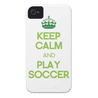 Keep Calm And Play Soccer (Green) iPhone 4 Covers