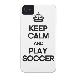Keep Calm And Play Soccer iPhone 4 Case-Mate Case