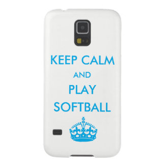 Keep Calm and Play Softball Galaxy S5 Case