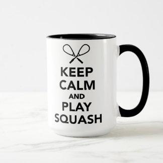 Keep calm and play Squash Mug