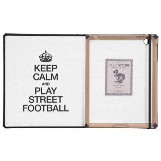 KEEP CALM AND PLAY STREET FOOTBALL iPad COVER