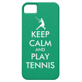 Keep calm and play tennis iPhone 4/5 case Barely There iPhone 5 Case