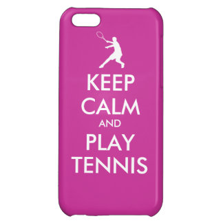 Keep Calm And Play Tennis Iphone Case Cover For iPhone 5C