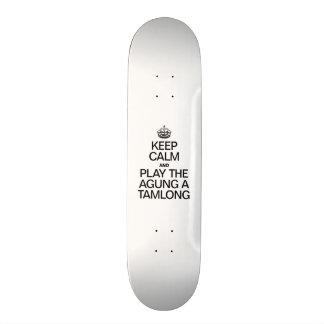 KEEP CALM AND PLAY THE AGUNG A TAMLONG SKATE BOARD DECKS