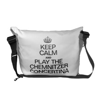 KEEP CALM AND PLAY THE CHEMNITZER CONCERTINA COURIER BAG