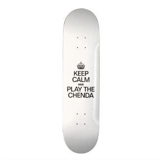 KEEP CALM AND PLAY THE CHENDA 21.6 CM OLD SCHOOL SKATEBOARD DECK