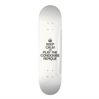 KEEP CALM AND PLAY THE CONDOMBE REPIQUE 20 CM SKATEBOARD DECK