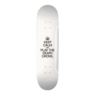 KEEP CALM AND PLAY THE DEATH GROWL 21.6 CM OLD SCHOOL SKATEBOARD DECK