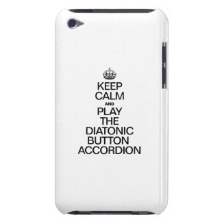 KEEP CALM AND PLAY THE DIATONIC BUTTON ACCORDION Case-Mate iPod TOUCH CASE