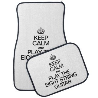 KEEP CALM AND PLAY THE EIGHT STRING GUITAR FLOOR MAT