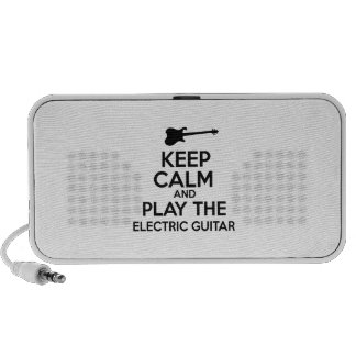 Keep Calm And Play The Electric Guitar Portable Speakers