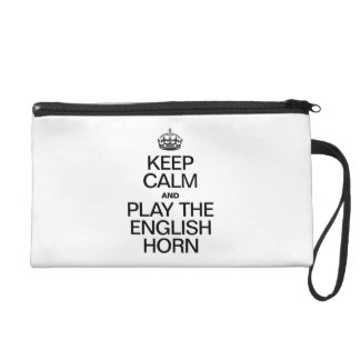 KEEP CALM AND PLAY THE ENLGISH HORN WRISTLET PURSE
