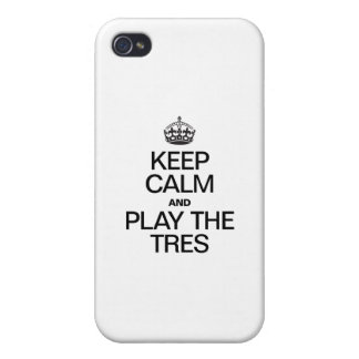 KEEP CALM AND PLAY THE PLAY THE TRES CASES FOR iPhone 4