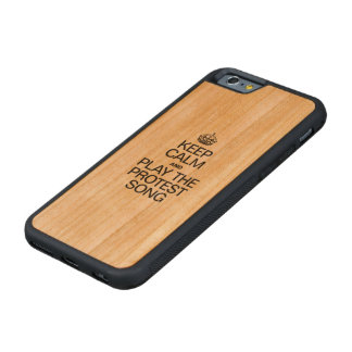 KEEP CALM AND PLAY THE PROTEST SONG CHERRY iPhone 6 BUMPER CASE