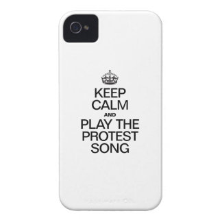 KEEP CALM AND PLAY THE PROTEST SONG iPhone 4 Case-Mate CASES
