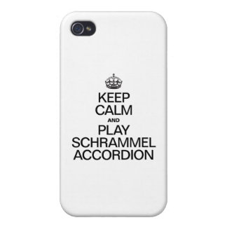 KEEP CALM AND PLAY THE SCHRAMMEL ACCORDION iPhone 4 COVER