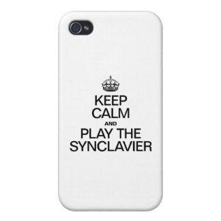 KEEP CALM AND PLAY THE SYNCLAVIER iPhone 4/4S COVERS