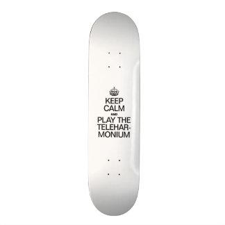 KEEP CALM AND PLAY THE TELEHARMONIUM 20.6 CM SKATEBOARD DECK